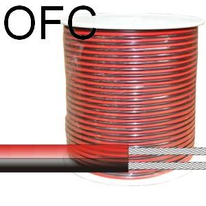 Piros/fekete hangszóró kábel autóhifi beszereléshez