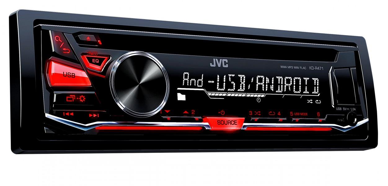 JVC KD-R471 USB CD/MP3 AUX autórádió képe