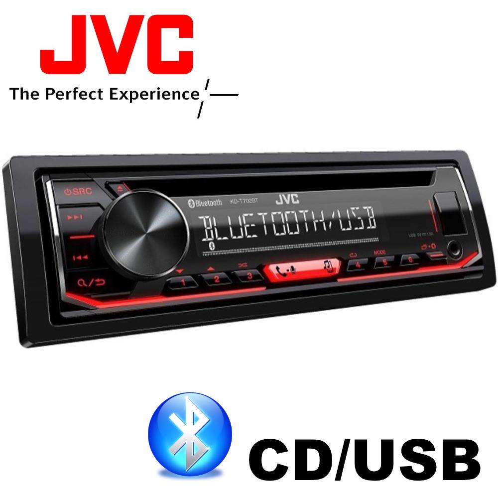 JVC KD-T702BT Bluetoothos kihangosítós és USB-s CD/MP3 autórádió képe