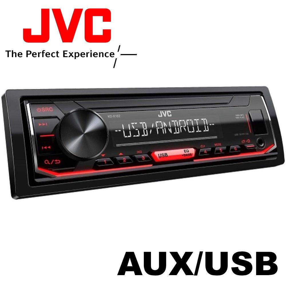 JVC KD-X162 USB-s CD mechanika nélküli autórádió képe