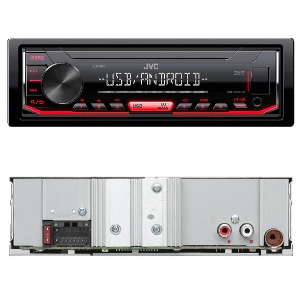 JVC KD-X162 USB-s CD mechanika nélküli autórádió hátulról