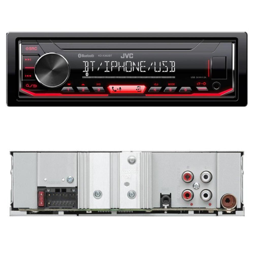 JVC KD-X362 BT Bluetoothos USB-s CD mechanika nélküli autórádió képe