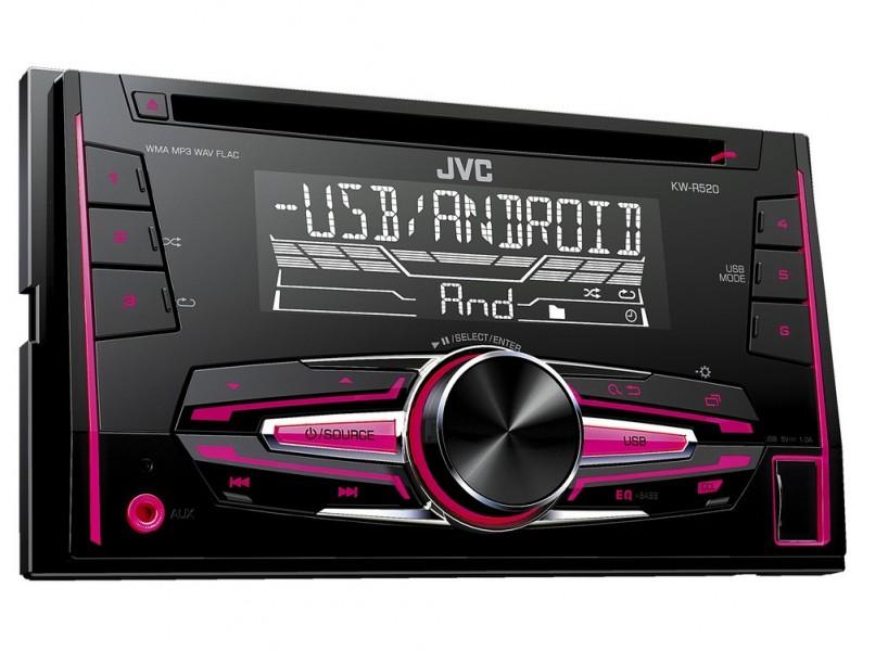 JVC KW-R520 USB CD/MP3 AUX 2 DIN autórádió képe