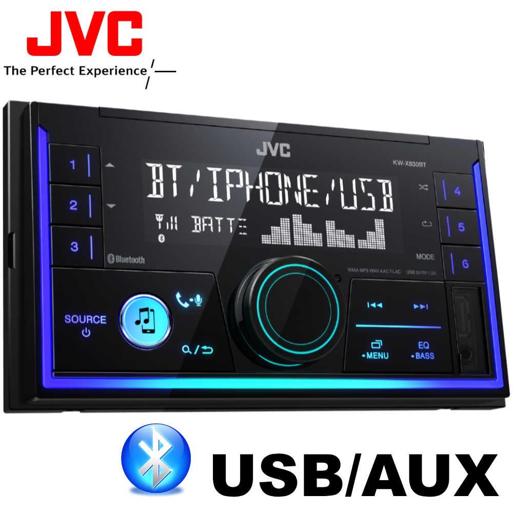 JVC KW-X830BT BLUETOOTH USB/AUX 2 DIN autórádió képe