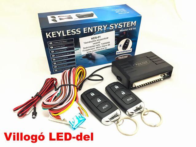 KES-01 központizár centrálzár vezérlő távirányító modul 2 db ugrókódos távirányítóval!