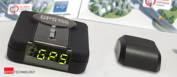 Kiyo GPS-800 GPS Detektor alapkészülék és a GPS antenna hozzá