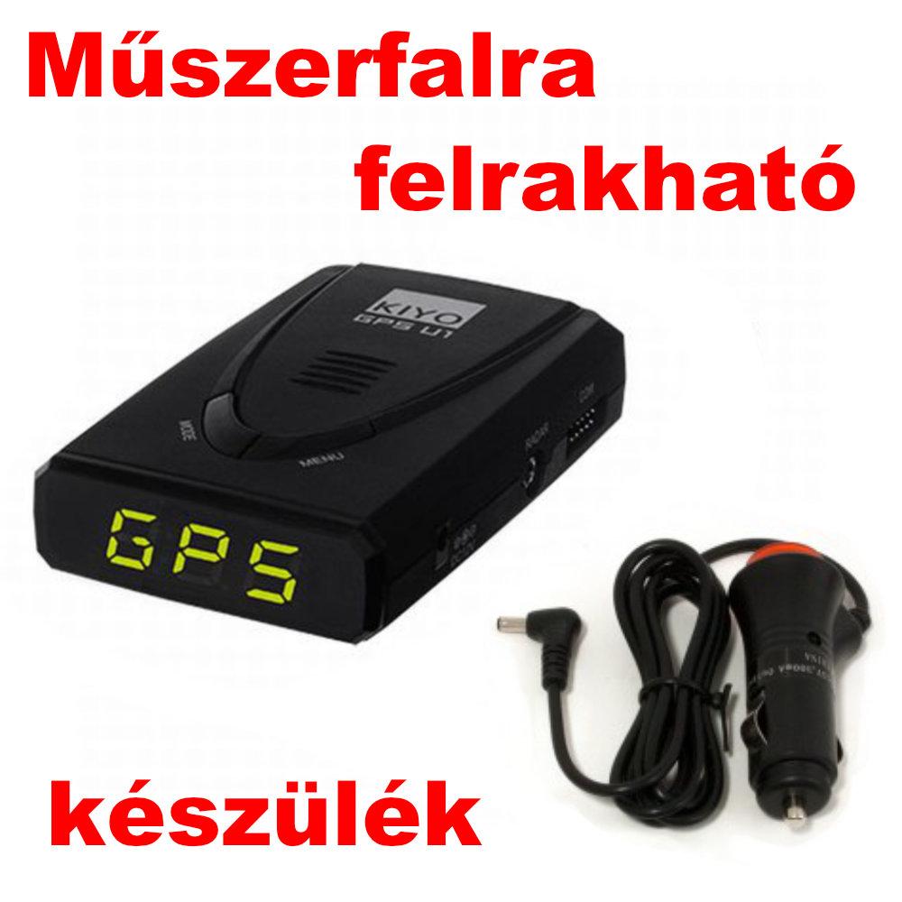 Kiyo GPS-U1 GPS Detektor műszerfalra felrakható alapkészülék