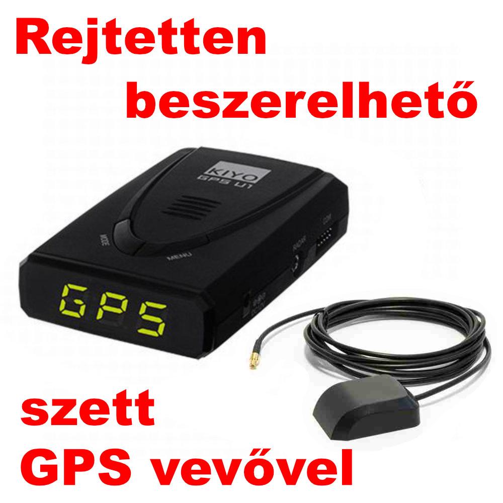 Kiyo GPS-U1 GPS Detektor rejtetten beszerelhető szett képe