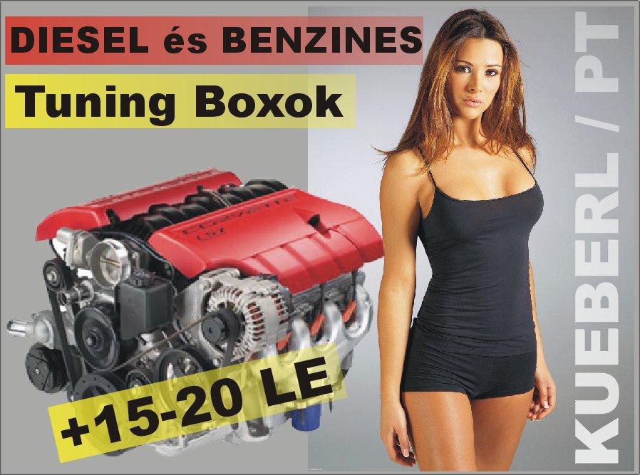 Küberl és PT-Box Diesel tuning PDTDI és Közös nyomócsöves DIESEL motorokhoz. +20% nyomaték és LE