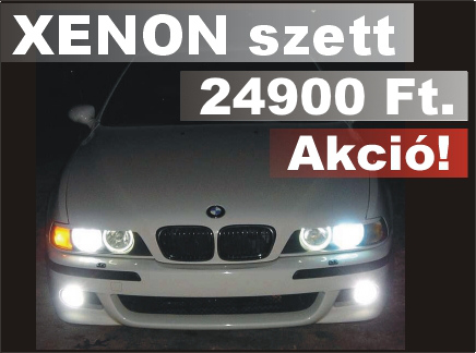 XENON H1, H7 s H4 foglalathoz is!