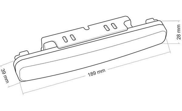 DRL-05 19 cm hosszú menetfény képe