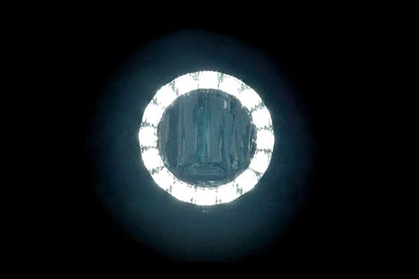 KTC ANGEL EYE KÖDLÁMPA + MENETFÉNY 90mm átmérőjű 4 csavaros gyári felfogatású világít