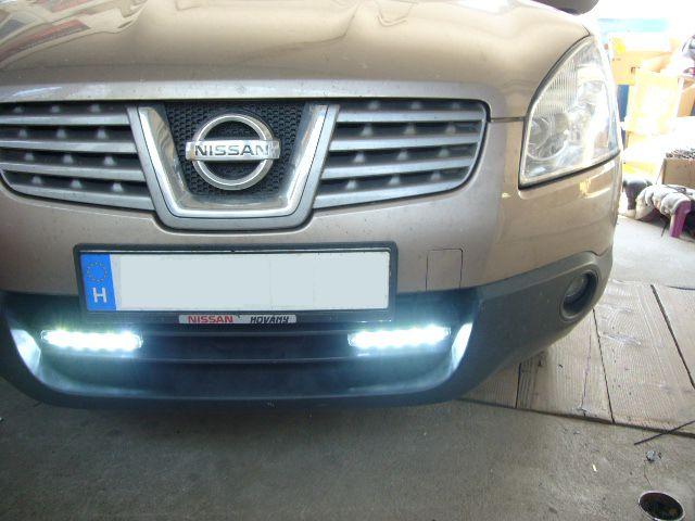 Nissan Qashqai ledes nappali menetfény beszerelés!