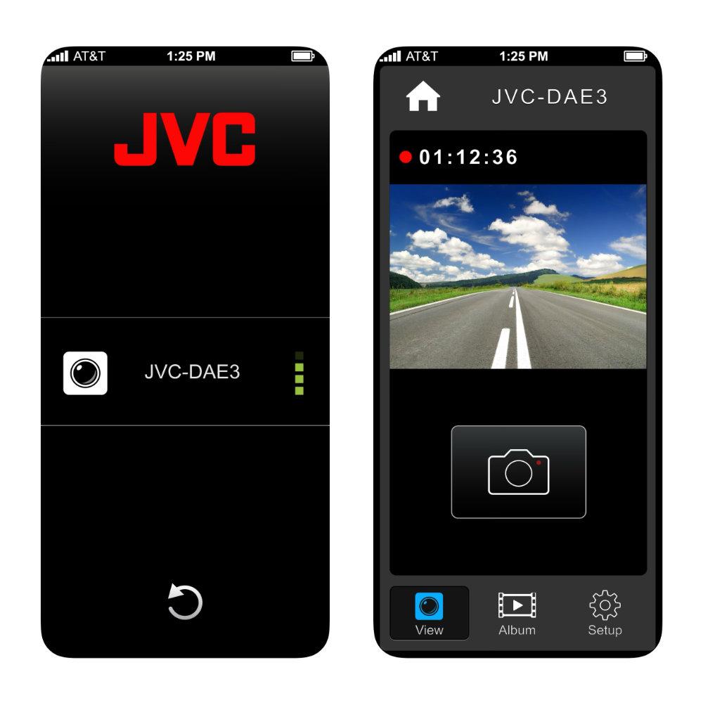 JVC GC-DRE10-S Full HD Wifis menetrögzítő kamera JVC DASHCAM mobil applikációval 2