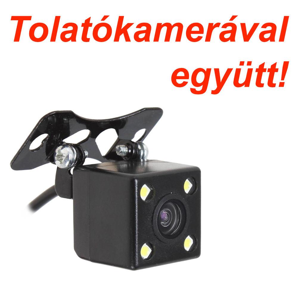 Tükörmonitorral egybeépített menetrögzítő kamera Tolatókamerával együtt