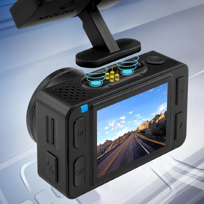 NEOLINE G-Tech X-76 PREMIUM első - hátsó menetrögzítő kamera mágneses tartóról könnyen levehető