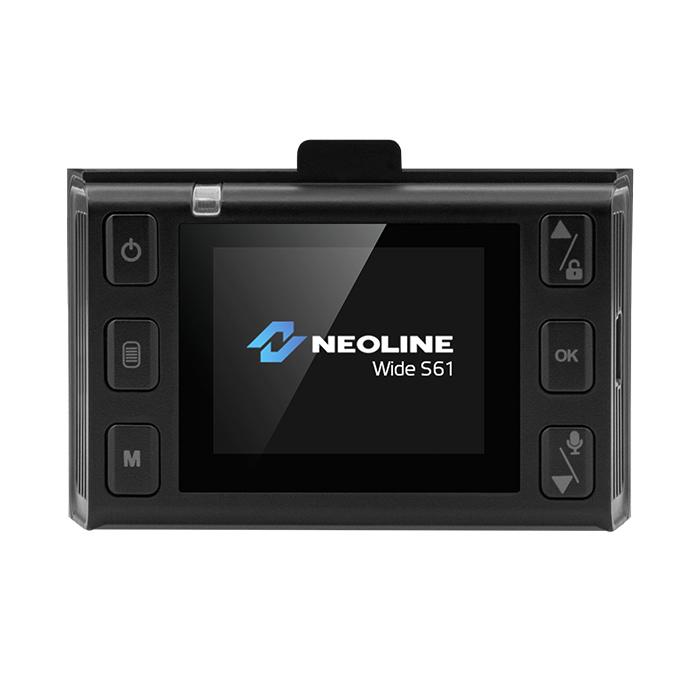 NEOLINE S61 WIFIS PREMIUM menetrögzítő kamera kijelzője