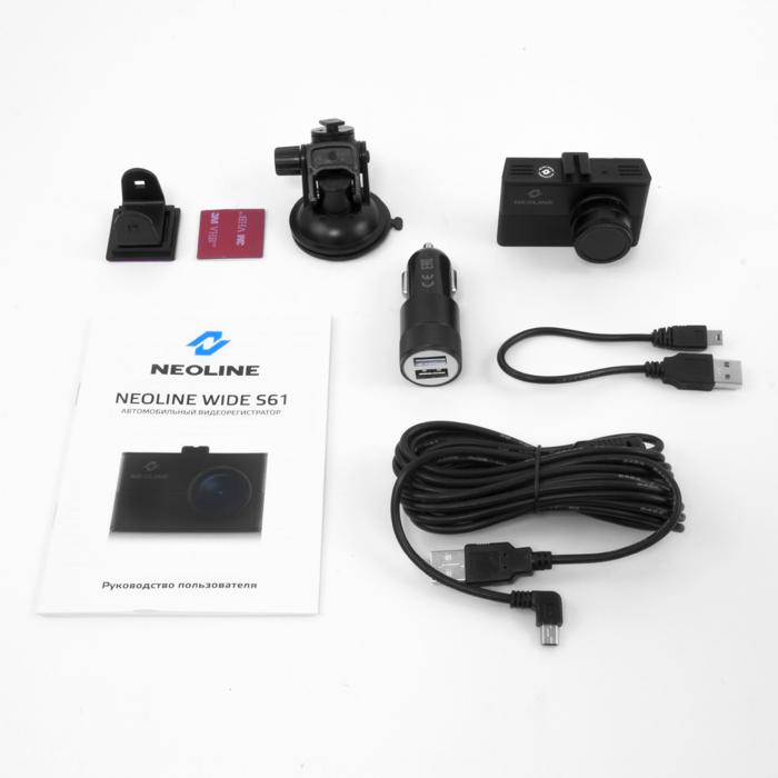 NEOLINE S61 WIFIS PREMIUM menetrögzítő kamera összes tartozékaival