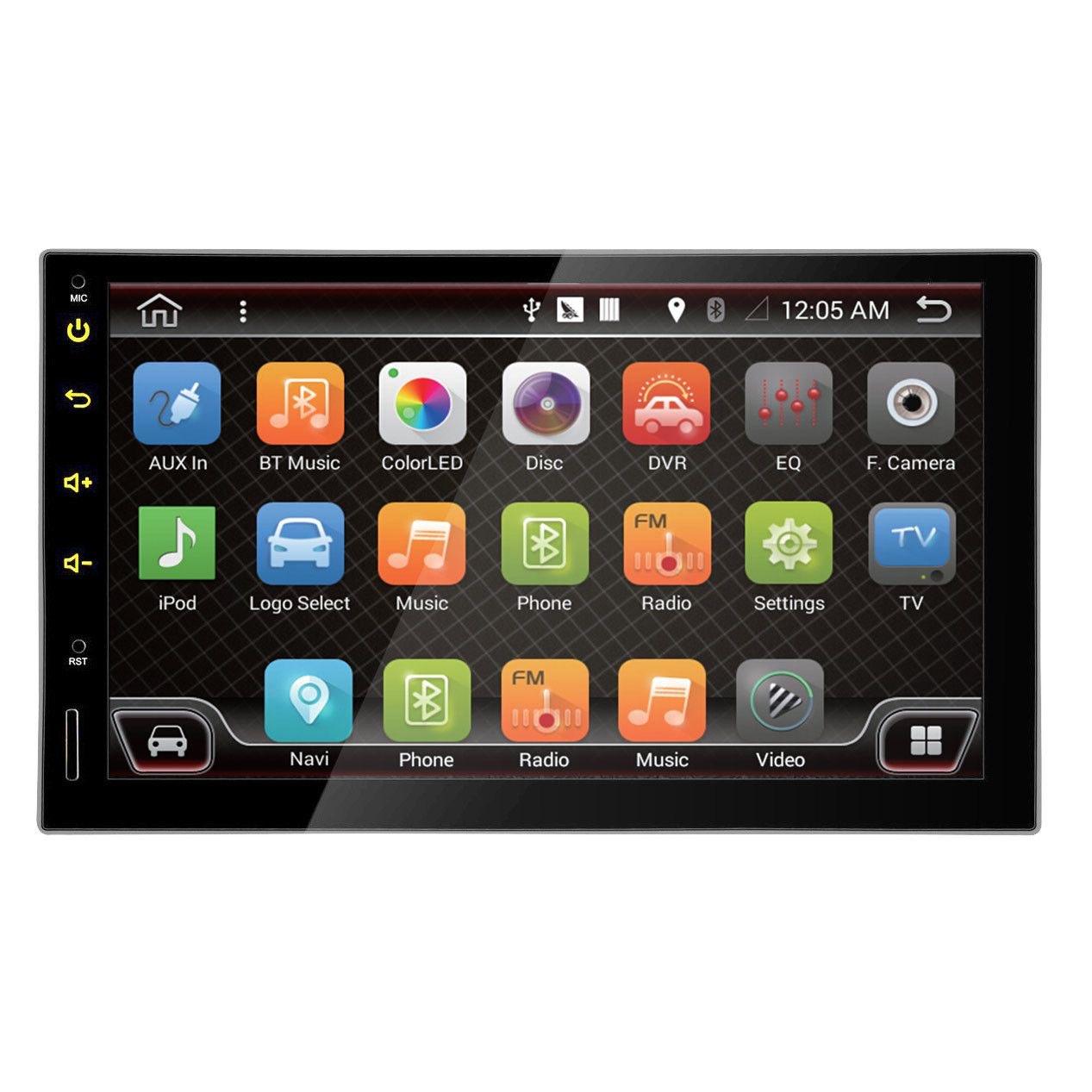 JVJ 8871 Android  2DIN Navigációs  Multimédiás fejegység 2 din autórádió képe