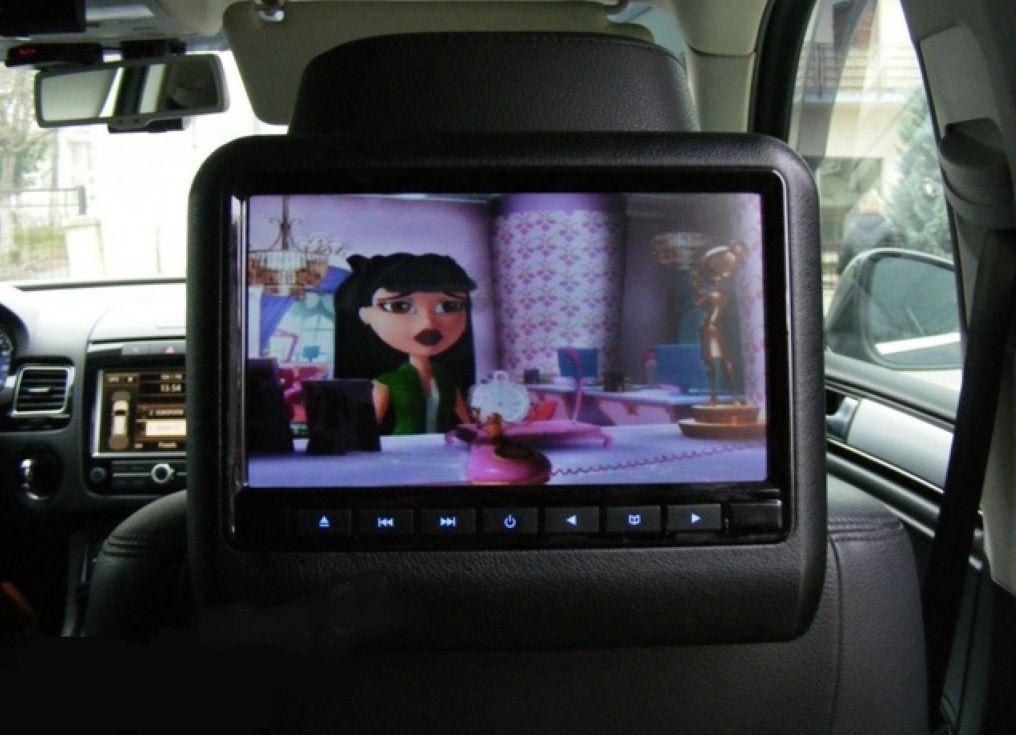 Fejtámlára szerelhető DVD / Multimédia lejátszó képe