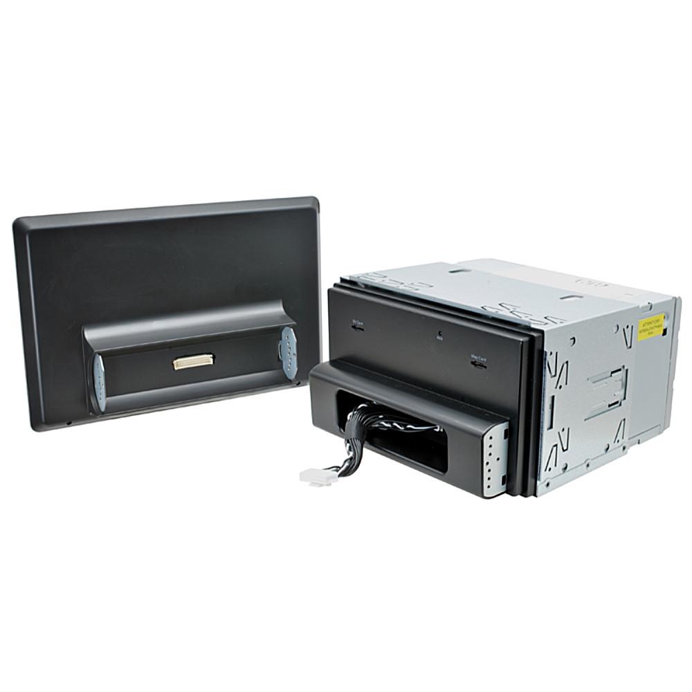MACROM M-AN1000DVD 10' TABLET KIJELZŐS ANDROIDOS Multimédiás Fejegység DVD/CD lejátszóval 2 DIN-es méretben kijelzője leszerelve