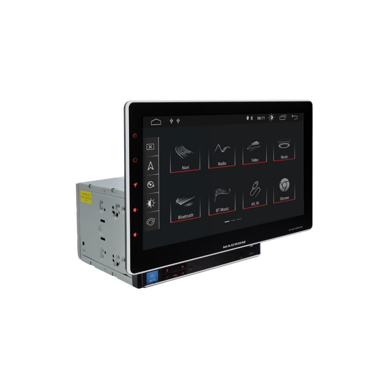 MACROM M-AN1000DVD 10' TABLET KIJELZŐS ANDROIDOS Multimédiás Fejegység DVD/CD lejátszóval 2 DIN-es méretben gyári autórádió helyére