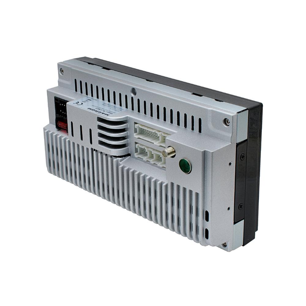 MACROM M-AN600 ANDROID 9.0 2 DIN-es méretű Multimédiás Fejegység hátulról