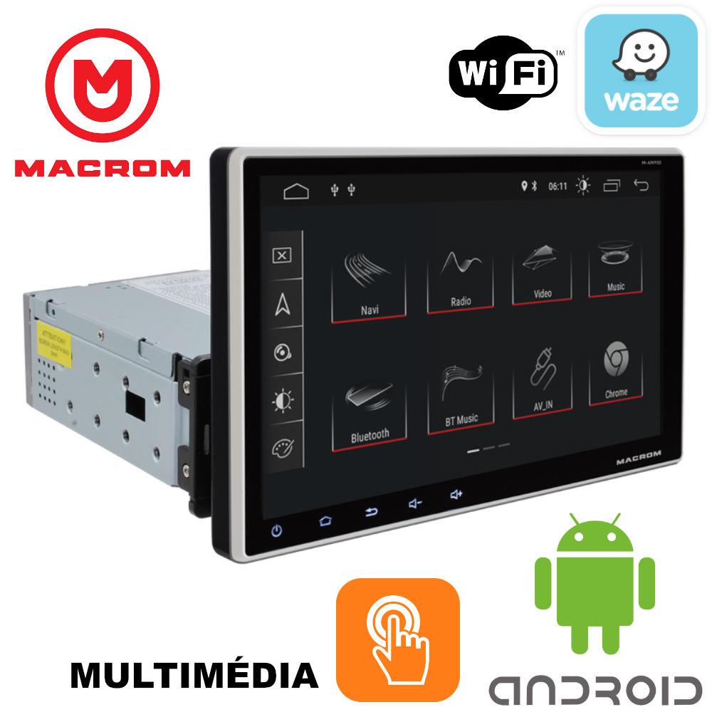 MACROM M-AN900 9' TABLET KIJELZŐS ANDROID OREO 8.1 Multimédiás Fejegység Fix kijelzővel 1 DIN-es méretű autórádió helyére