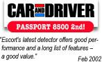 ESCORT PASSPORT 8500  EURO radardetektor, traffipax jelző által nyert díjak
