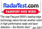 ESCORT PASSPORT 8500  EURO radardetektor, traffipax jelz� �ltal nyert d�jak