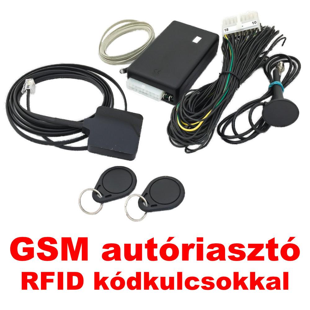 RFIDA-30 GSM Autóriasztó RFID olvasóval és kódkulcsokkal képe