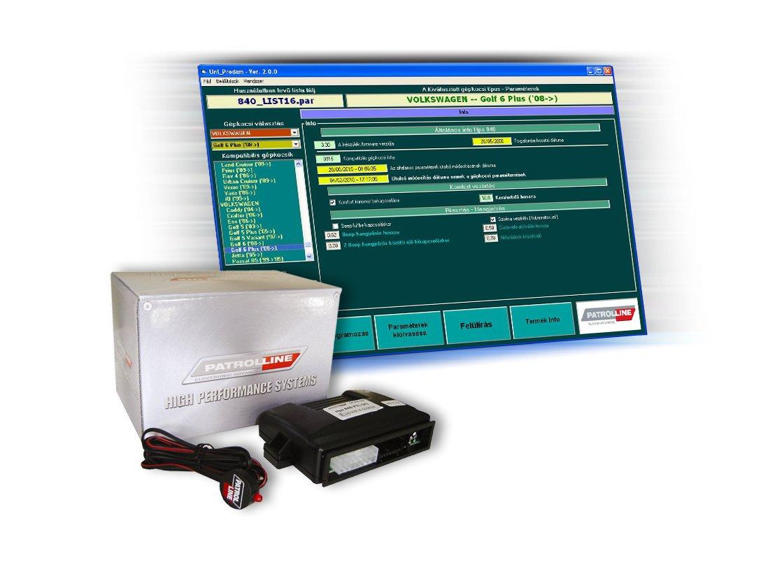 PATROL LINE HPS-840 CAN-BUS-os autóriasztó konfiguráló szoftver képe