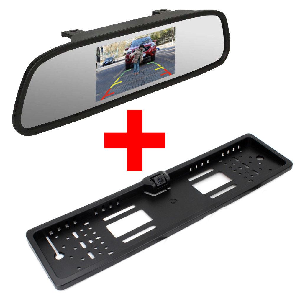 PT kis konzolos tolatókamera + PMS TM-01 tükörmonitor monitor szett képe