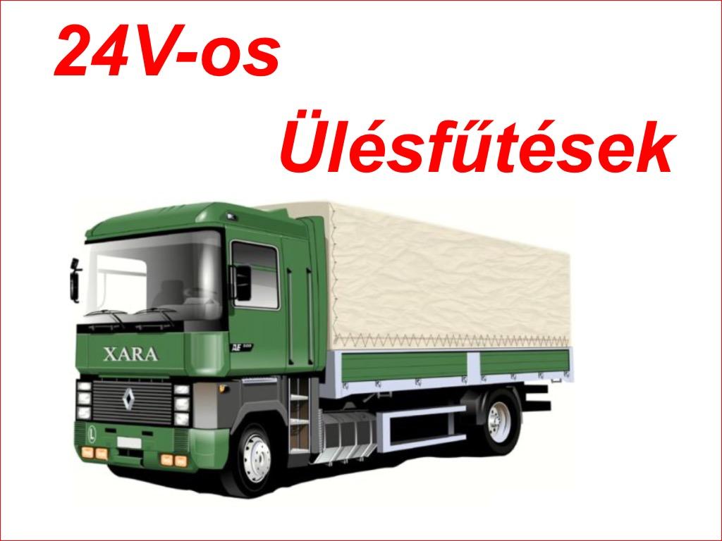 24V -os teherautós ülésfűtések